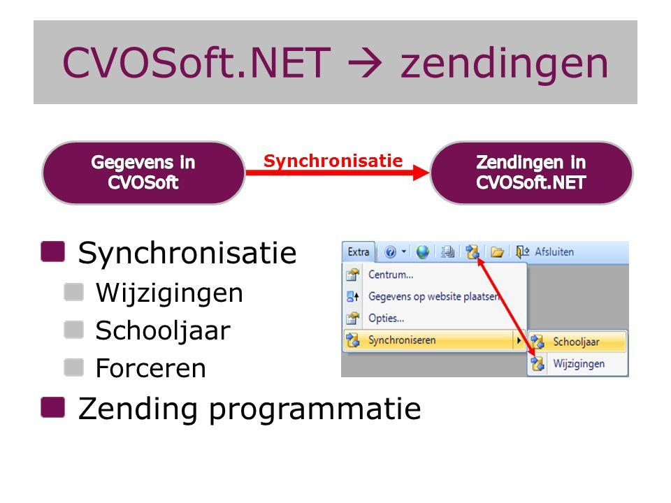 CVOSoft.NET  zendingen