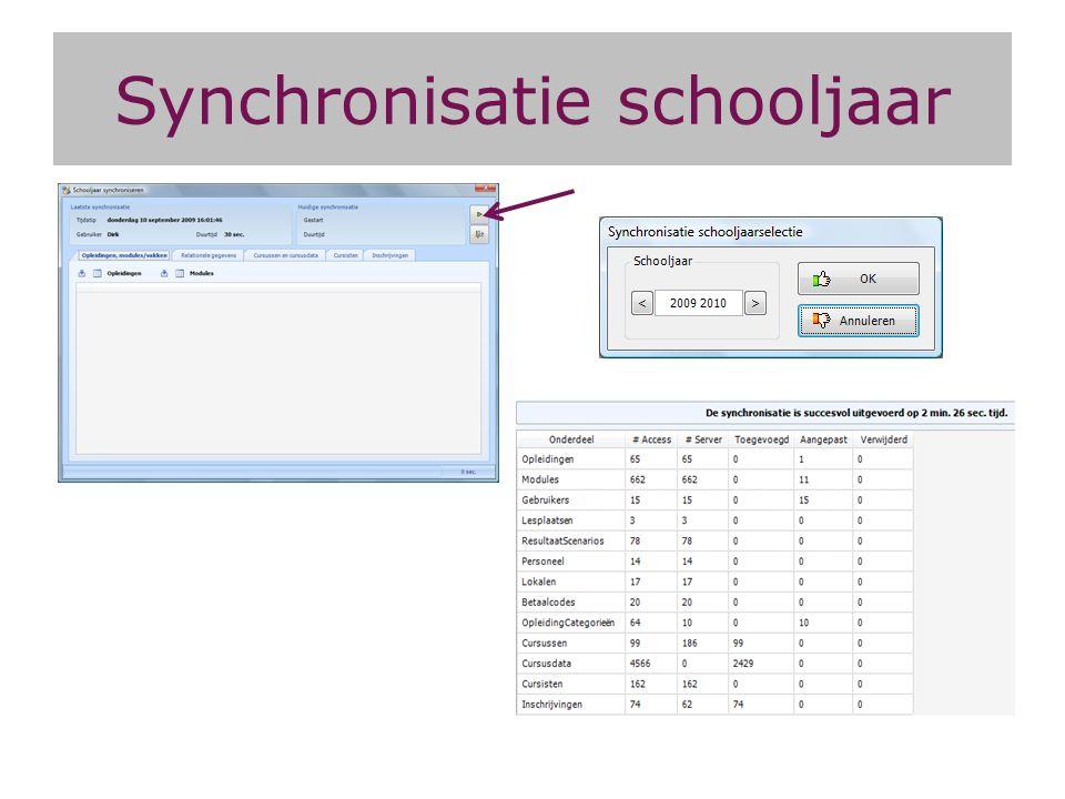 Synchronisatie schooljaar