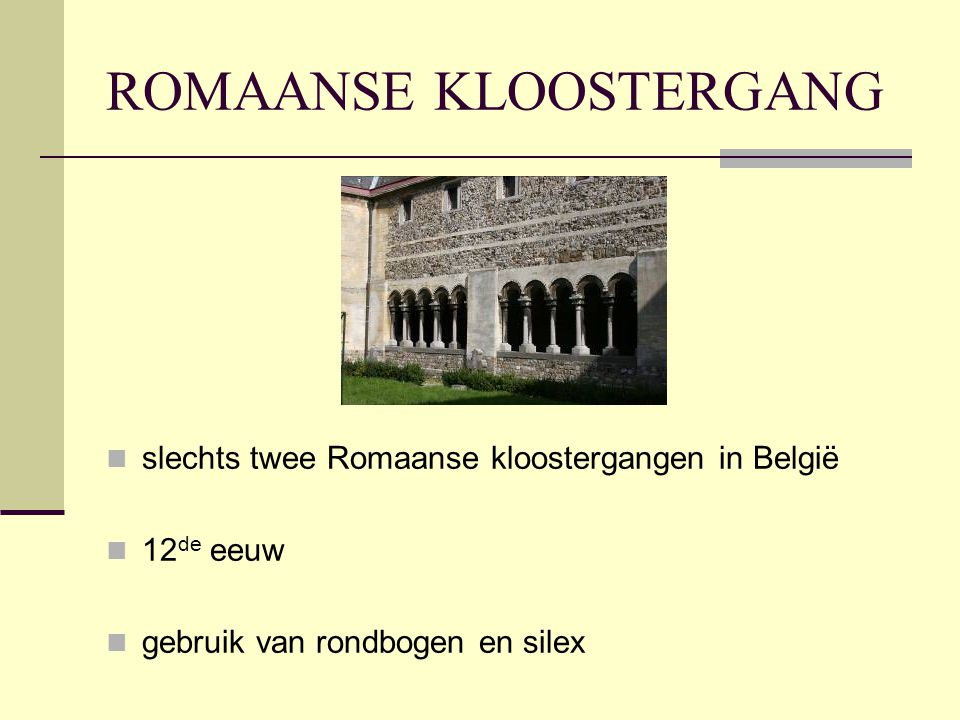 ROMAANSE KLOOSTERGANG