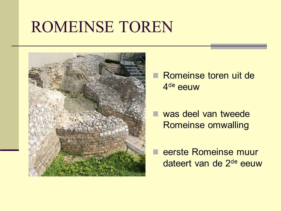 ROMEINSE TOREN Romeinse toren uit de 4de eeuw