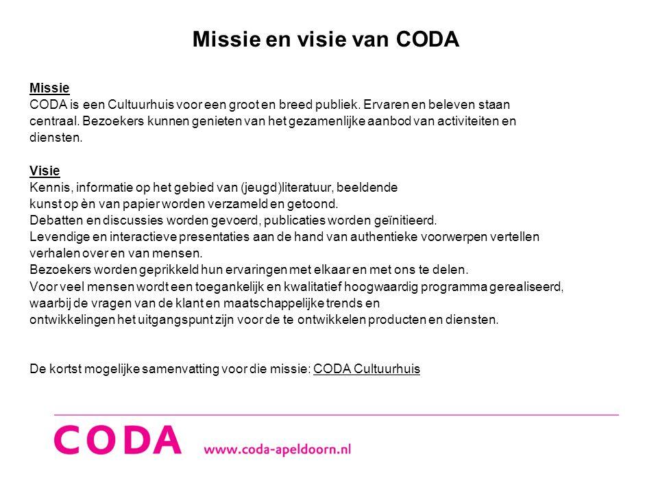 Missie en visie van CODA