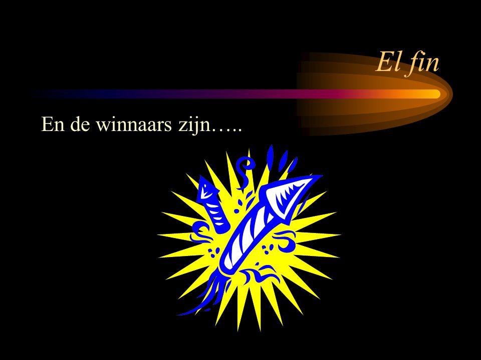 El fin En de winnaars zijn…..