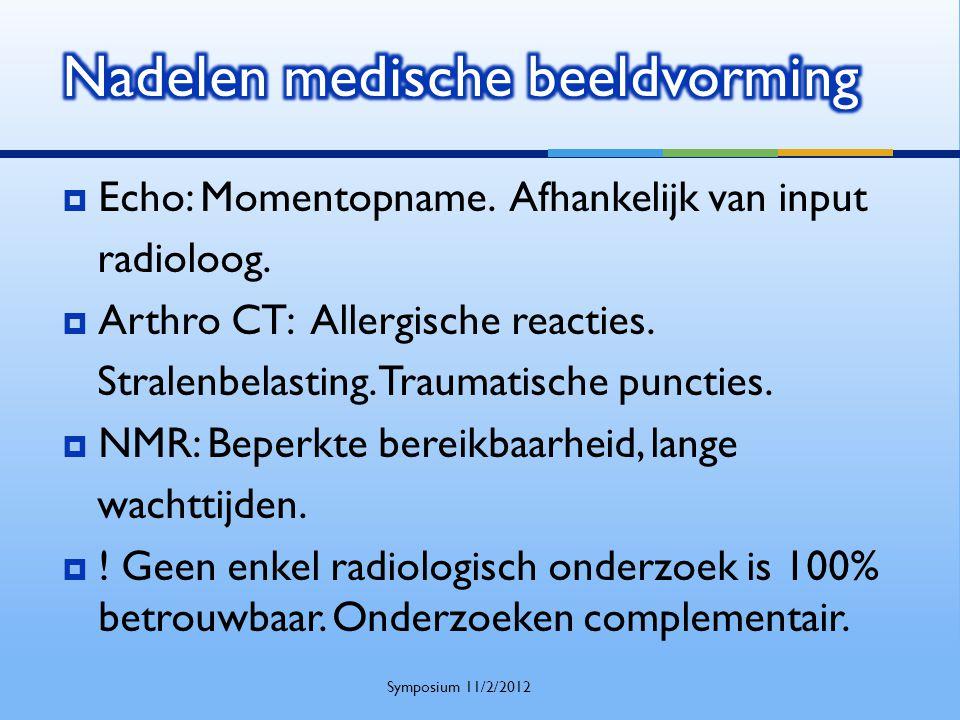 Nadelen medische beeldvorming