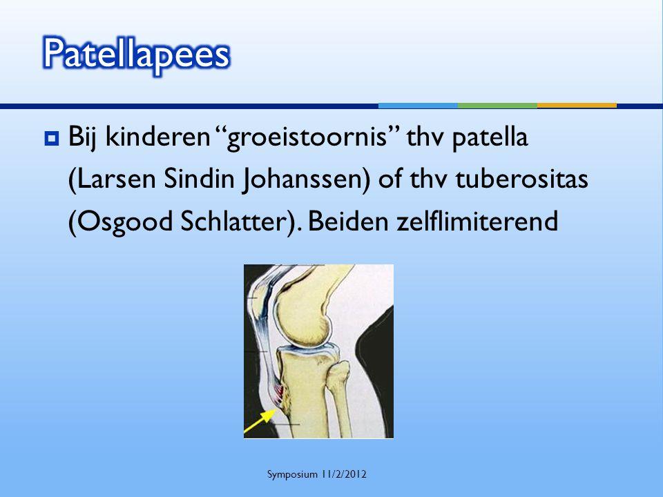 Patellapees Bij kinderen groeistoornis thv patella
