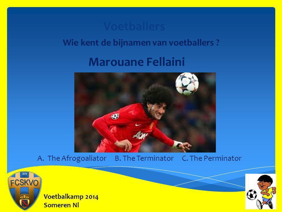 Voetballers Marouane Fellaini Wie kent de bijnamen van voetballers