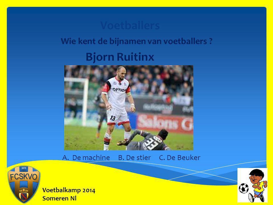Voetballers Bjorn Ruitinx Wie kent de bijnamen van voetballers