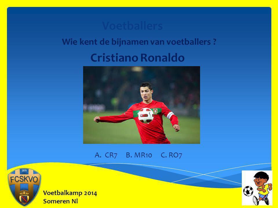 Voetballers Cristiano Ronaldo Wie kent de bijnamen van voetballers