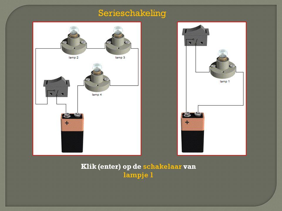 Klik (enter) op de schakelaar van lampje 1