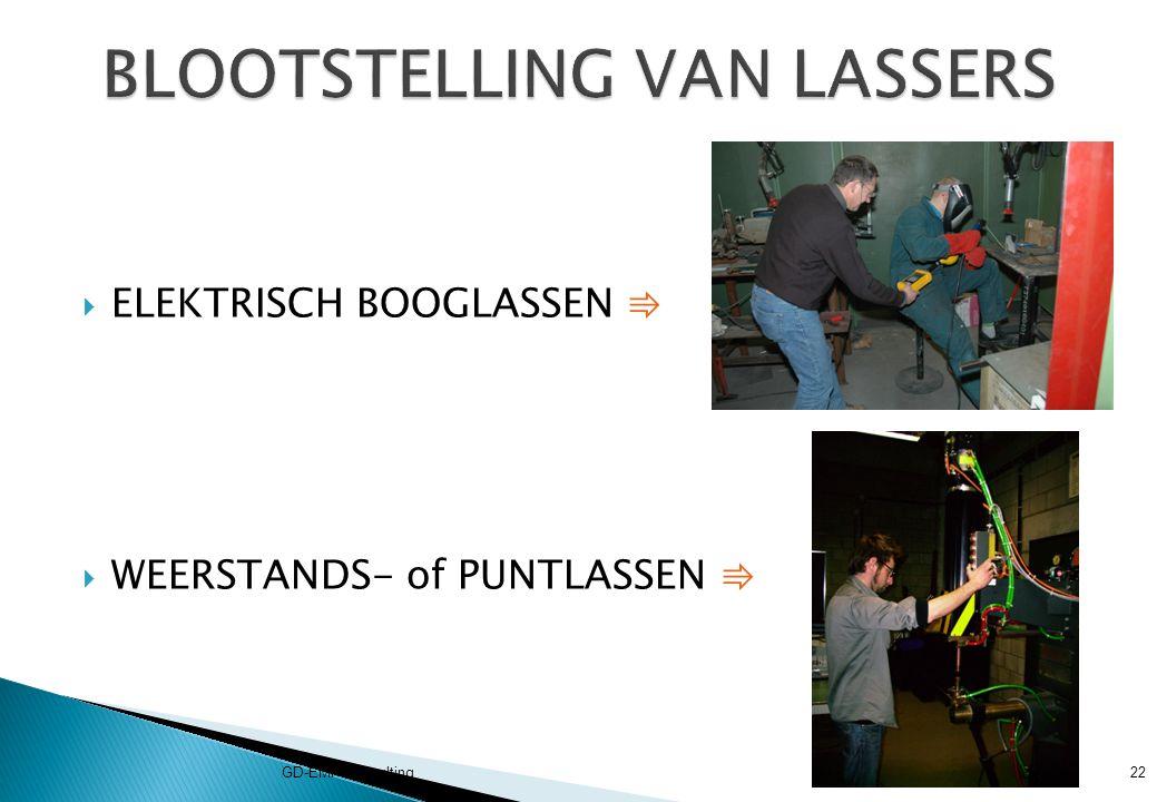 BLOOTSTELLING VAN LASSERS