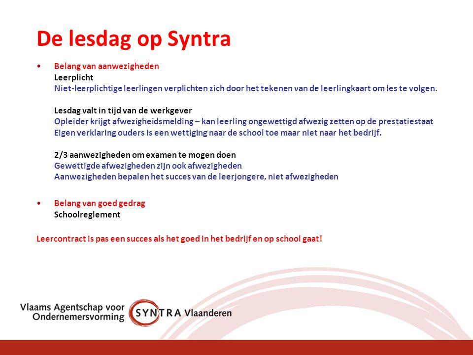De lesdag op Syntra