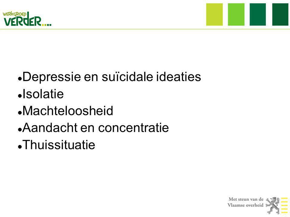 Depressie en suïcidale ideaties