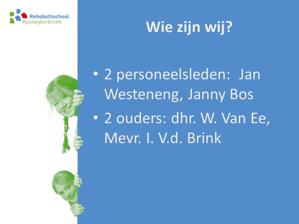 Wie zijn wij. 2 personeelsleden: Jan Westeneng, Janny Bos.