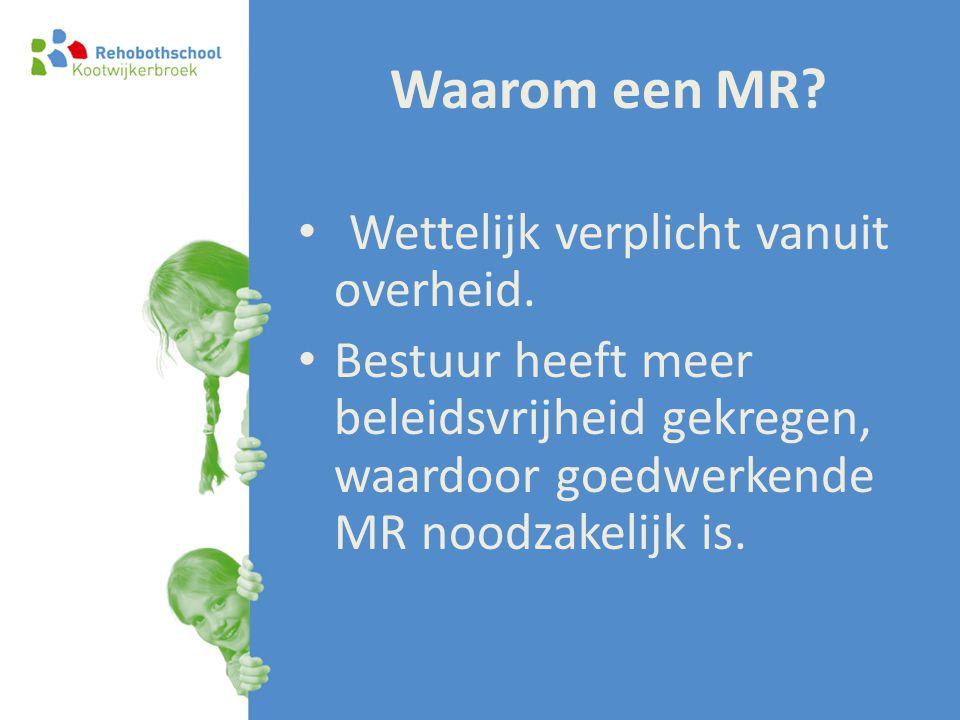 Waarom een MR Wettelijk verplicht vanuit overheid.