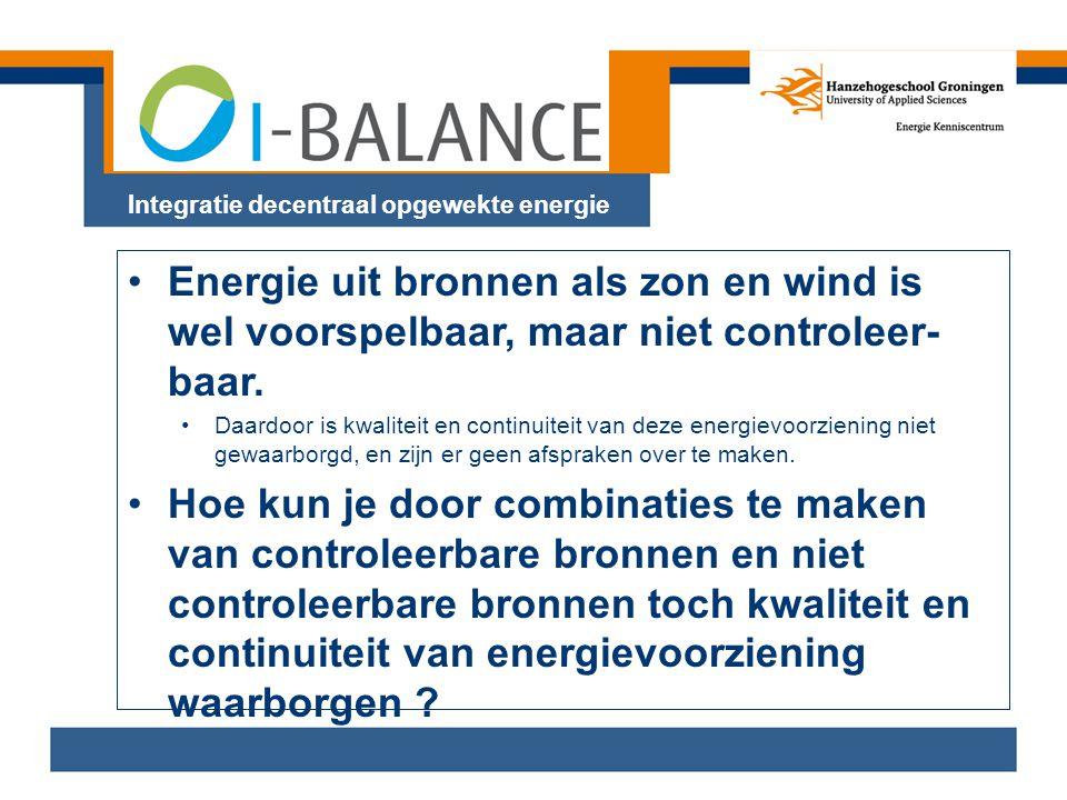 Integratie decentraal opgewekte energie