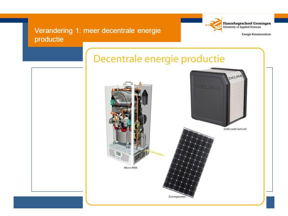 Verandering 1: meer decentrale energie productie