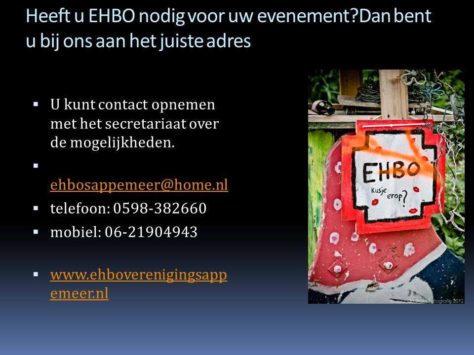 Heeft u EHBO nodig voor uw evenement
