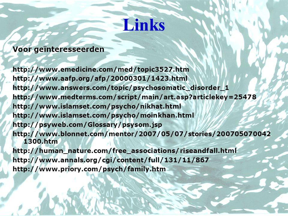 Links Voor geïnteresseerden http://www.emedicine.com/med/topic3527.htm