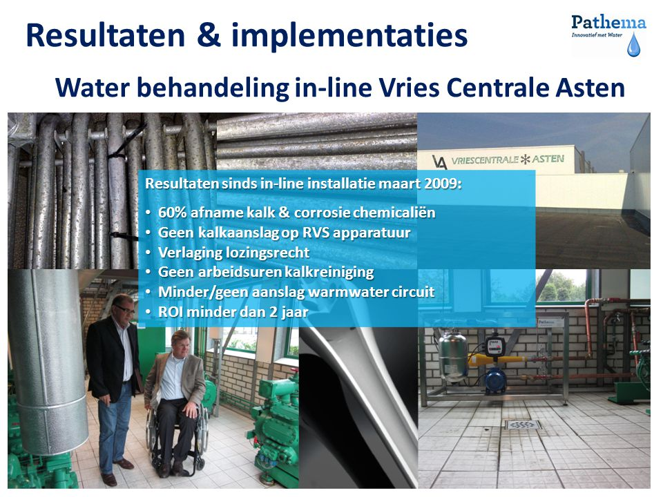 Water behandeling in-line Vries Centrale Asten