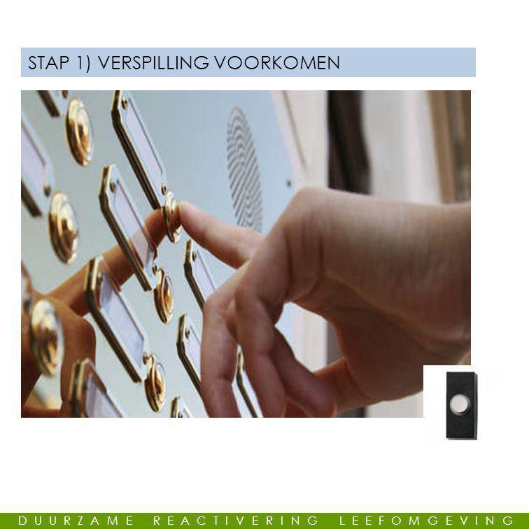 STAP 1) VERSPILLING VOORKOMEN