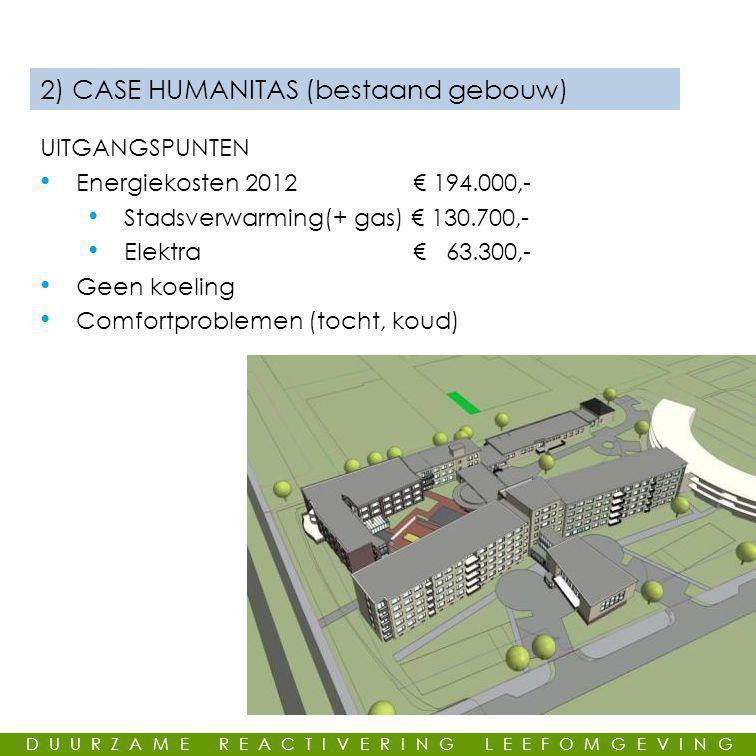 2) CASE HUMANITAS (bestaand gebouw)