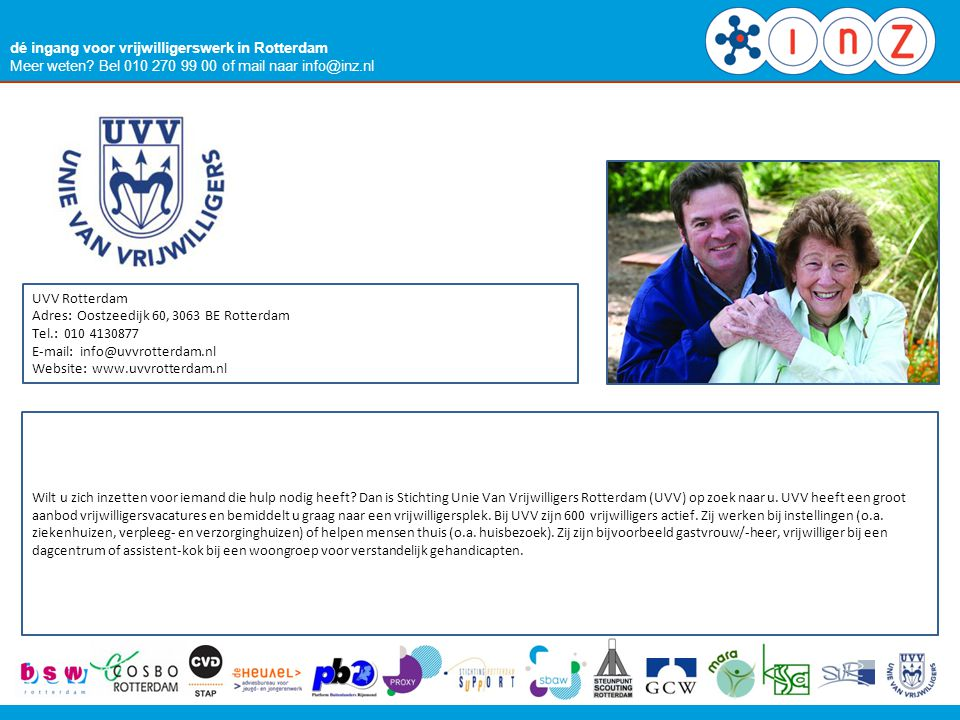 PROXY dé ingang voor vrijwilligerswerk in Rotterdam