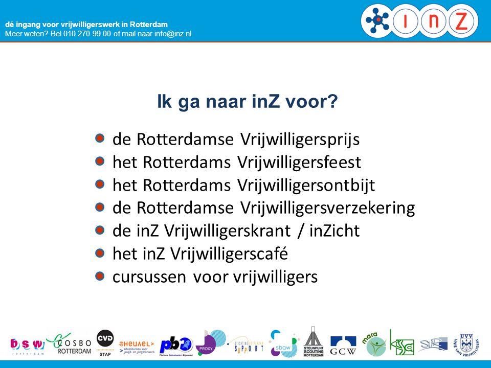 de Rotterdamse Vrijwilligersprijs het Rotterdams Vrijwilligersfeest
