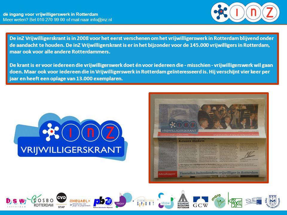 dé ingang voor vrijwilligerswerk in Rotterdam