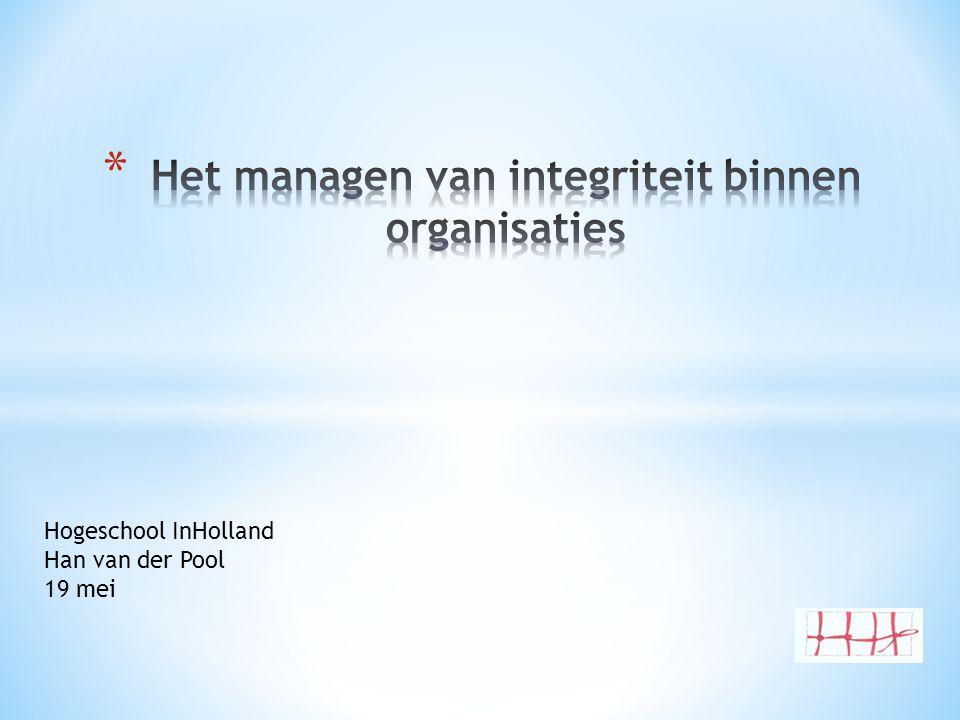 Het managen van integriteit binnen organisaties