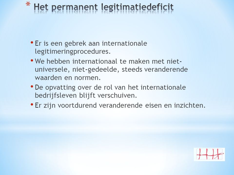 Het permanent legitimatiedeficit