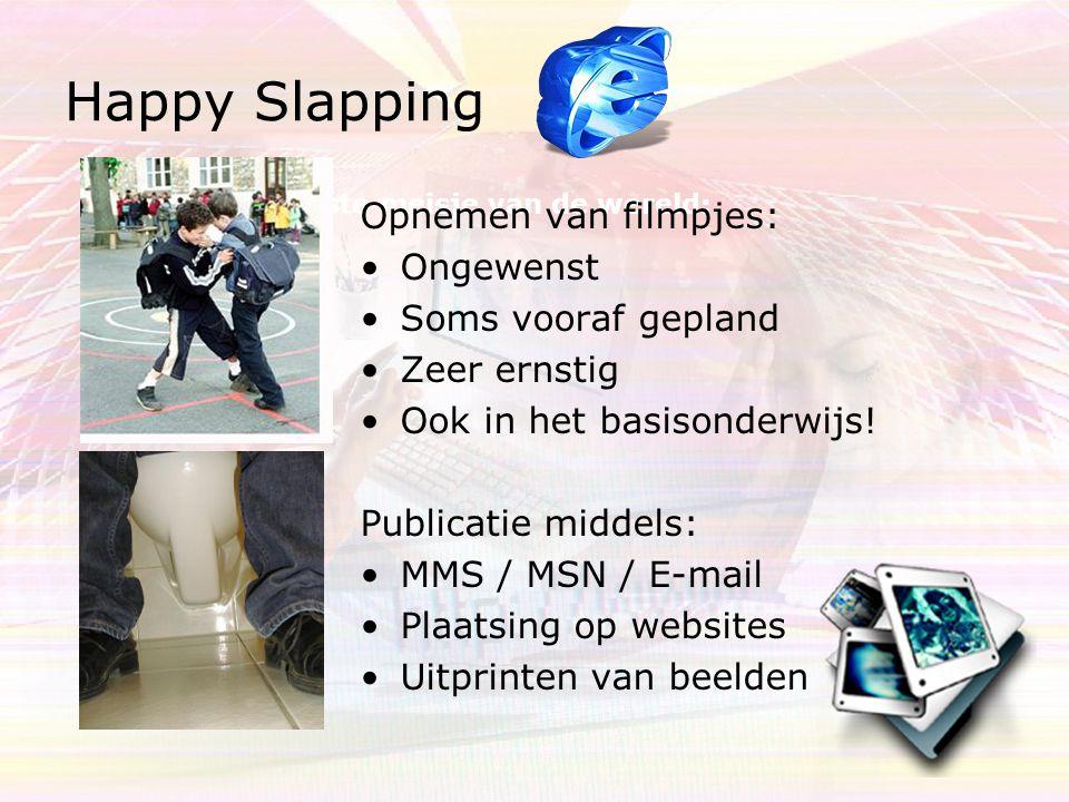 Happy Slapping Opnemen van filmpjes: Ongewenst Soms vooraf gepland