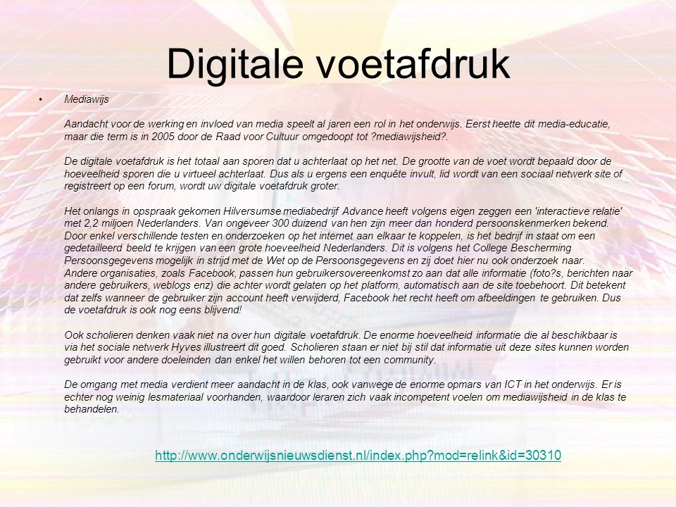 Digitale voetafdruk