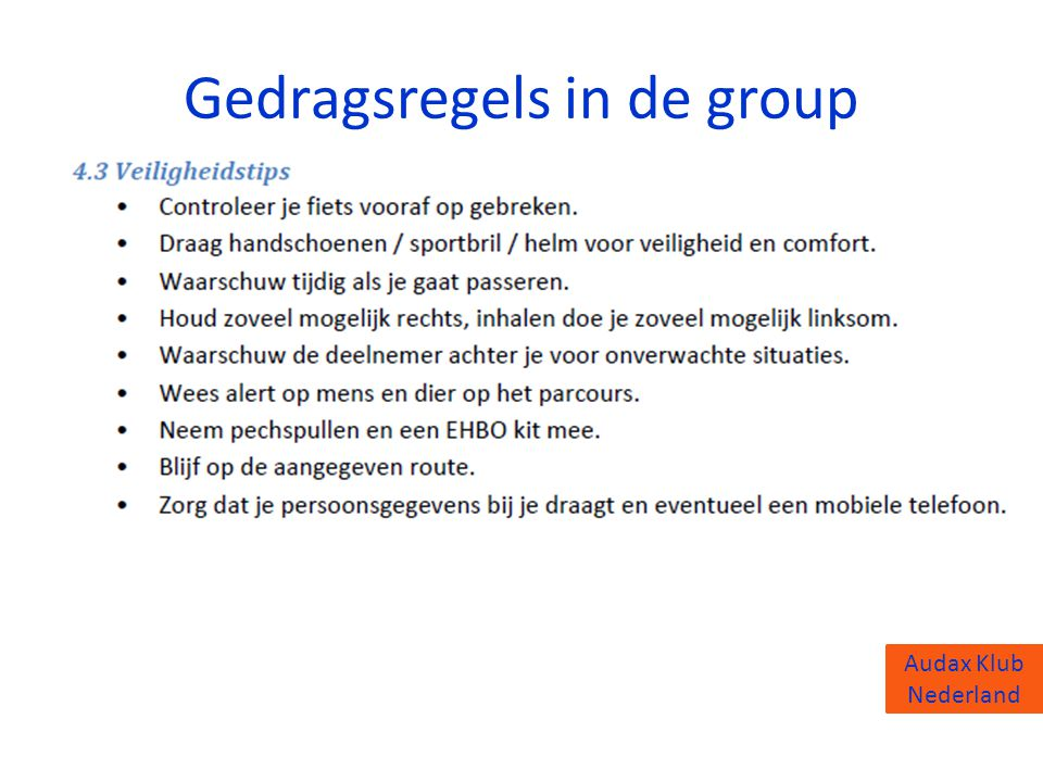 Gedragsregels in de group