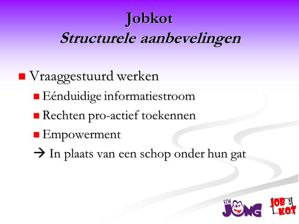Jobkot Structurele aanbevelingen