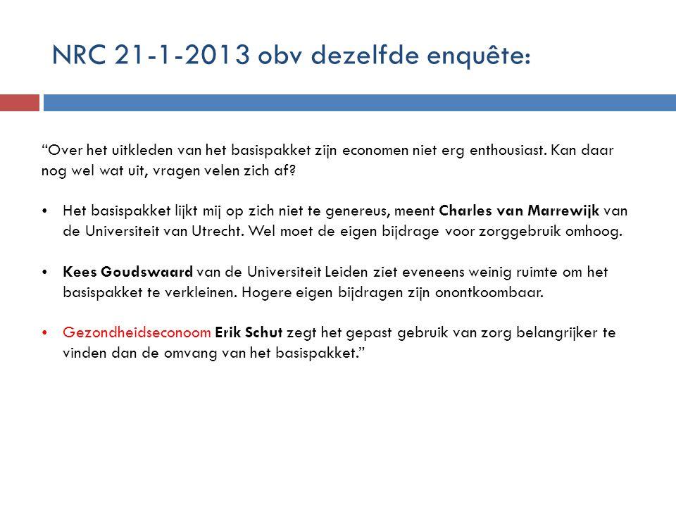 NRC 21-1-2013 obv dezelfde enquête: