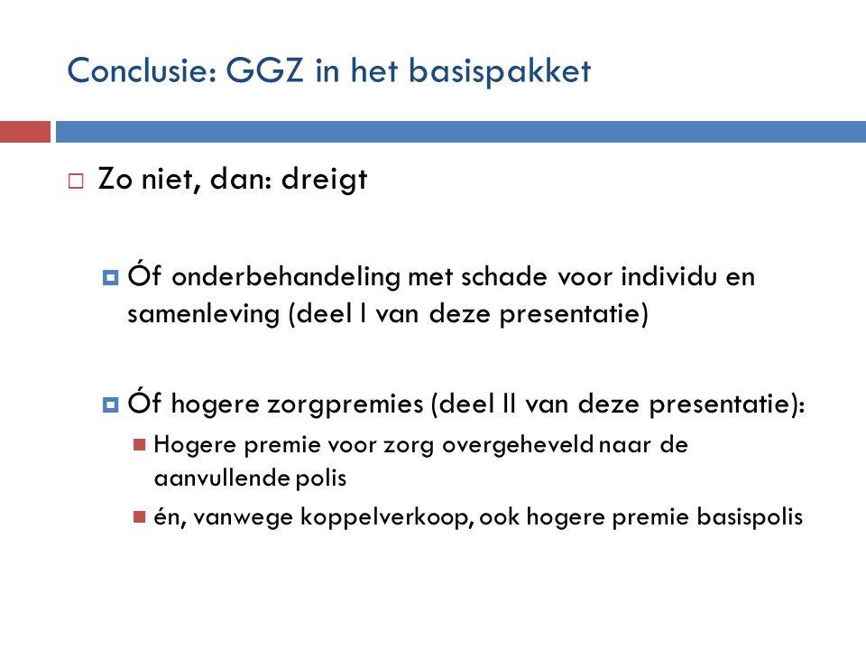 Conclusie: GGZ in het basispakket