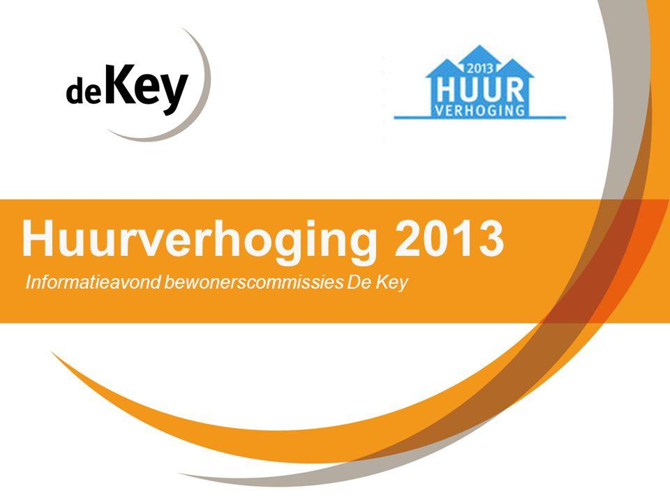 Huurverhoging 2013 Informatieavond bewonerscommissies De Key