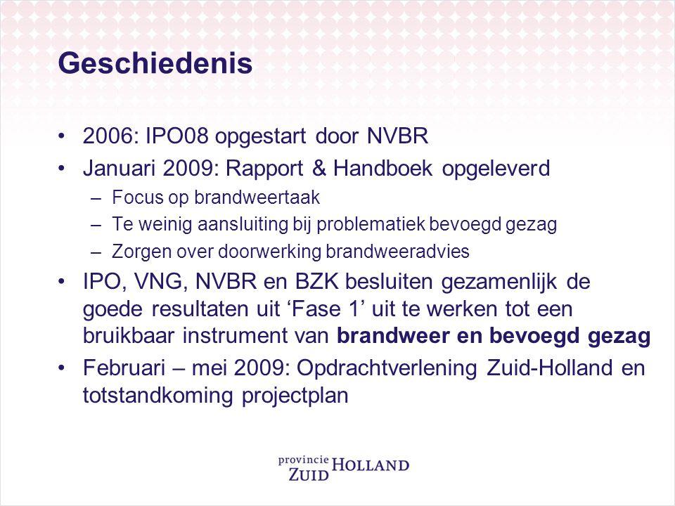Geschiedenis 2006: IPO08 opgestart door NVBR