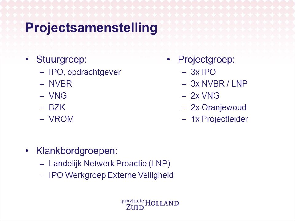 Projectsamenstelling