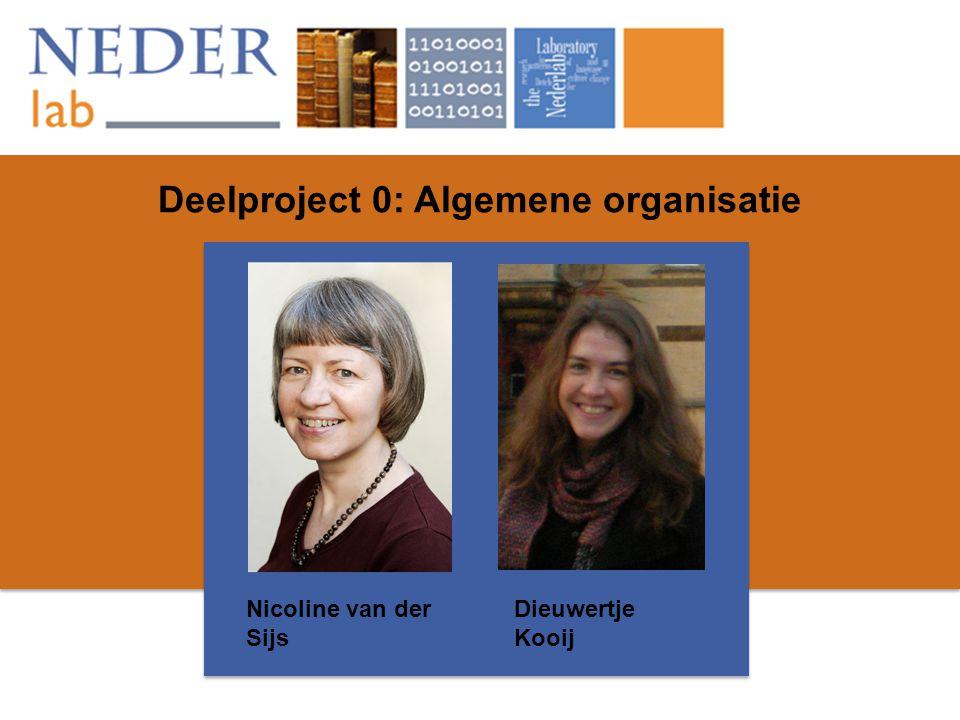 Deelproject 0: Algemene organisatie