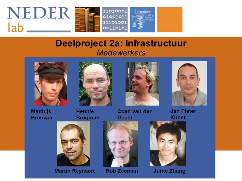 Deelproject 2a: Infrastructuur Medewerkers