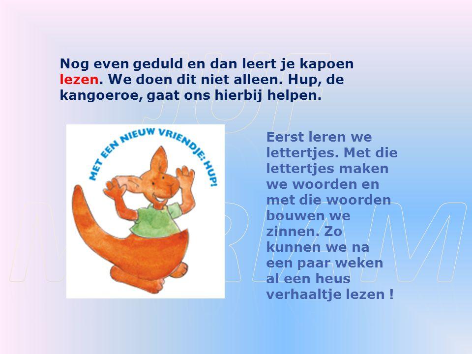 Juf myriam Nog even geduld en dan leert je kapoen lezen. We doen dit niet alleen. Hup, de kangoeroe, gaat ons hierbij helpen.