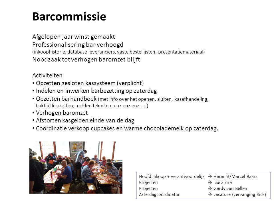 Barcommissie Afgelopen jaar winst gemaakt