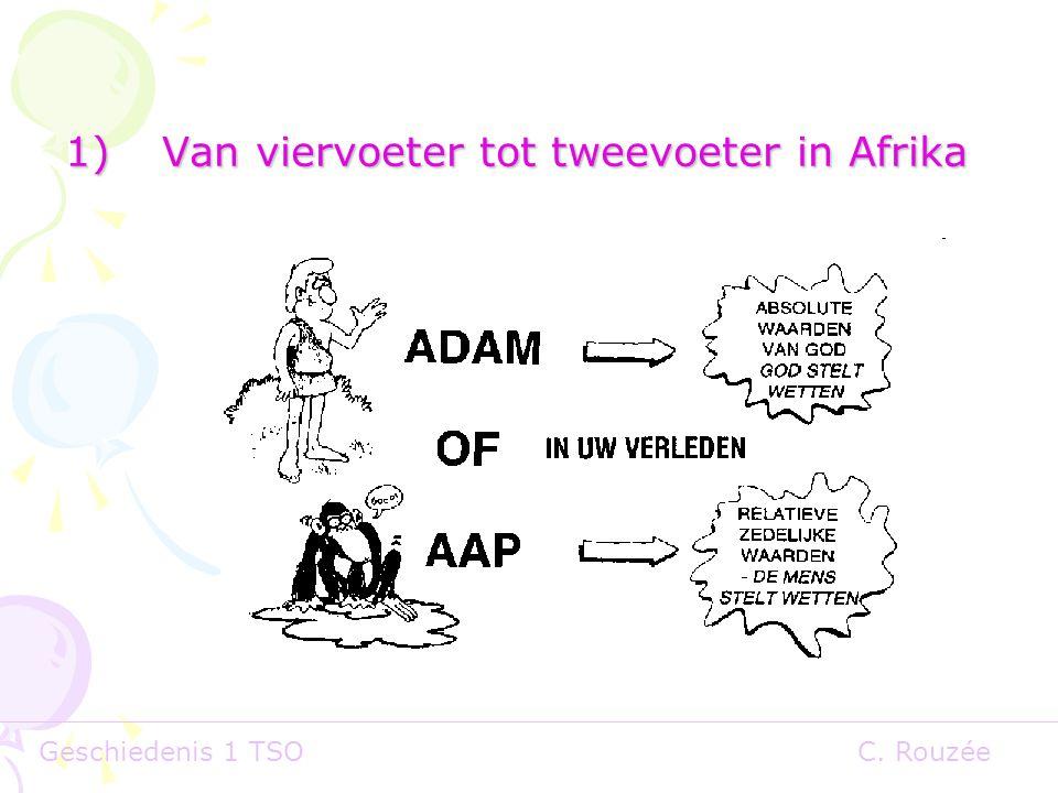 Van viervoeter tot tweevoeter in Afrika