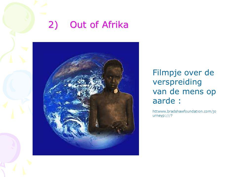 Out of Afrika Filmpje over de verspreiding van de mens op aarde :