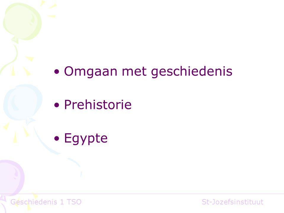 Omgaan met geschiedenis Prehistorie Egypte