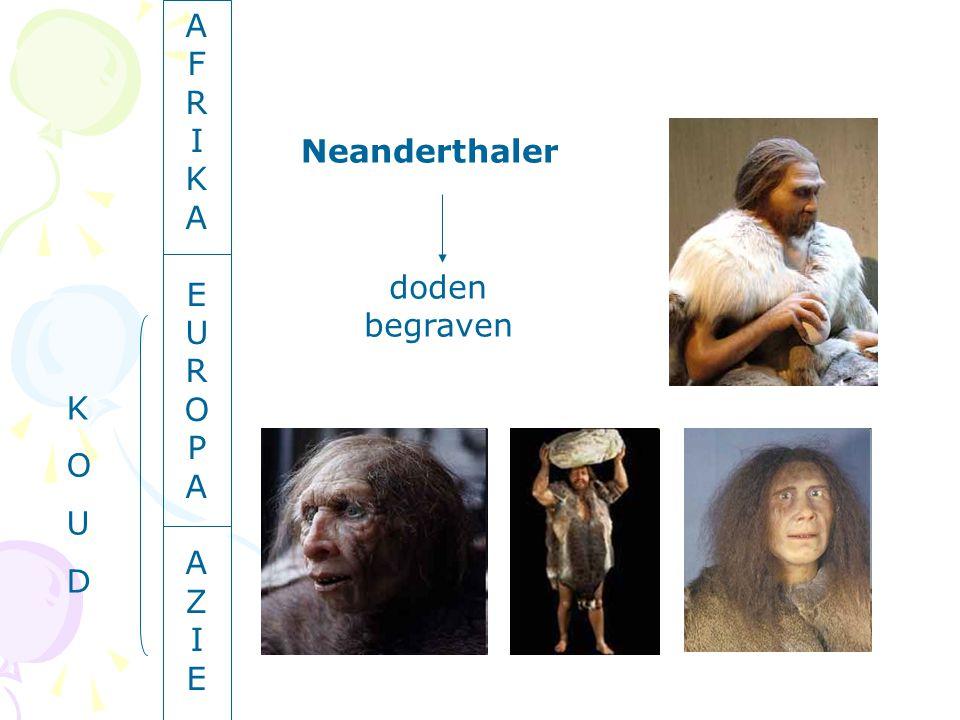 A F R I K A E U R O P A A Z I E Neanderthaler doden begraven K O U D