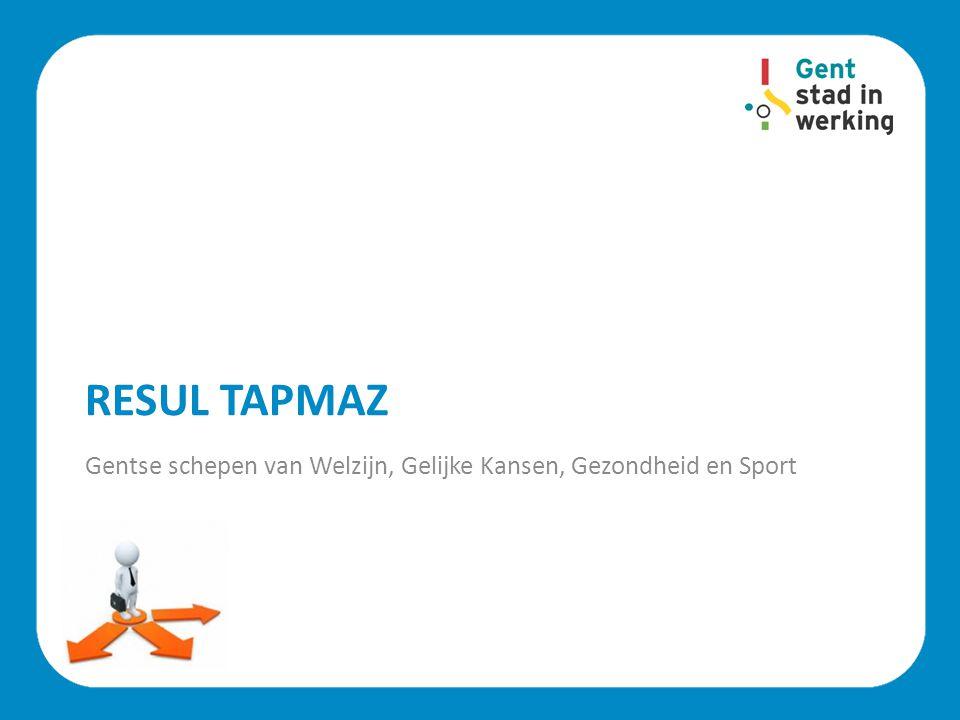 Resul Tapmaz Gentse schepen van Welzijn, Gelijke Kansen, Gezondheid en Sport.