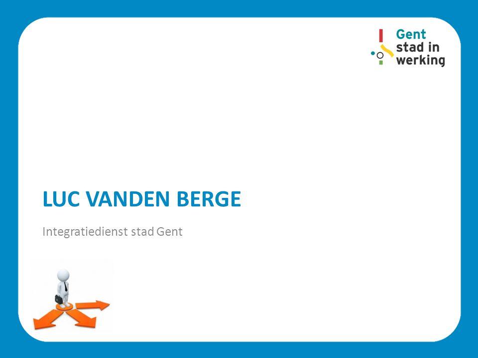 Luc Vanden Berge Integratiedienst stad Gent
