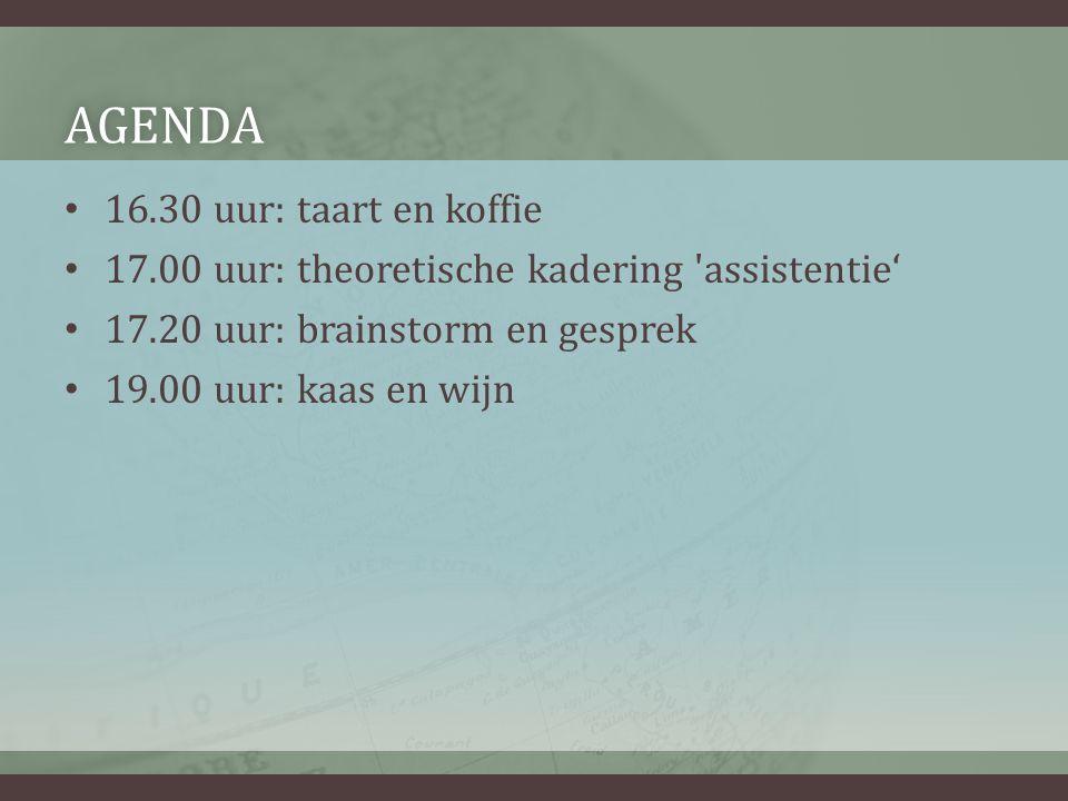 Agenda 16.30 uur: taart en koffie