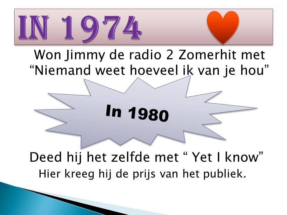 Won Jimmy de radio 2 Zomerhit met Niemand weet hoeveel ik van je hou